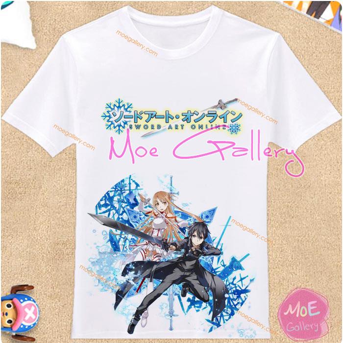 Sword Art Online Kirito Kazuto Kirigaya Asuna Yuuki T-Shirt 03