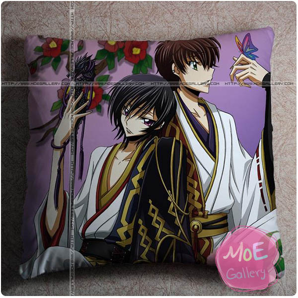Code Geass Suzaku Kururugi Throw Pillow Style A