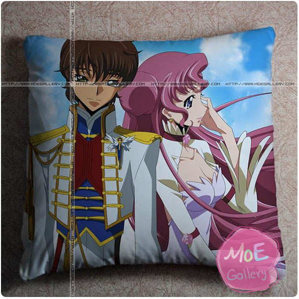 Code Geass Suzaku Kururugi Throw Pillow Style B