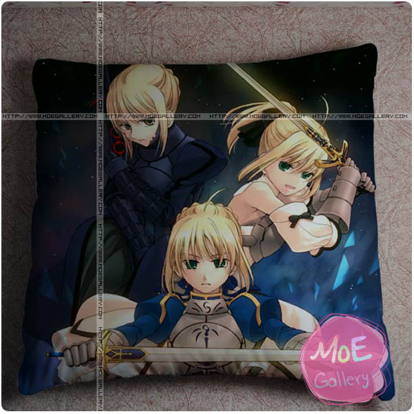 Fate Zero Saber Throw Pillow Style E