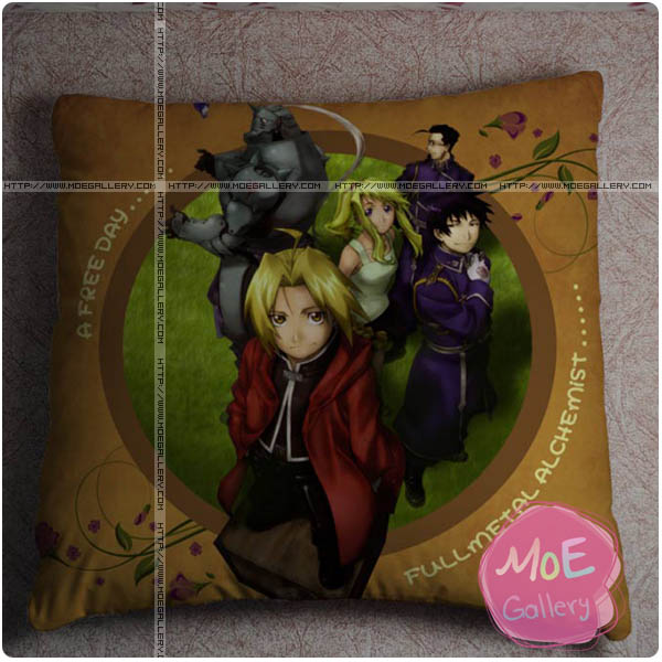 Fullmetal Alchemist Edward Elric Throw Pillow Style C