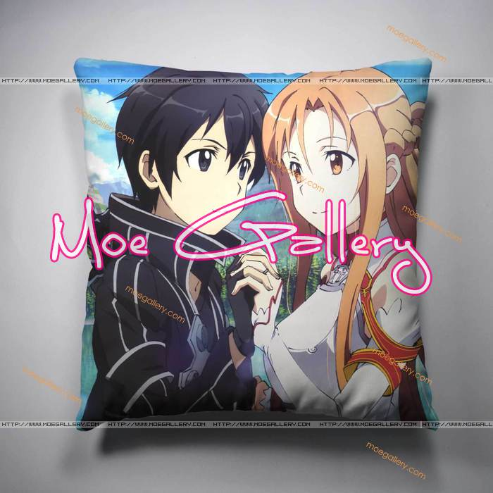 Sword Art Online Asuna Kirito Throw Pillow 10