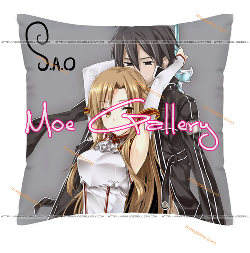 Sword Art Online Asuna Kirito Throw Pillow 20