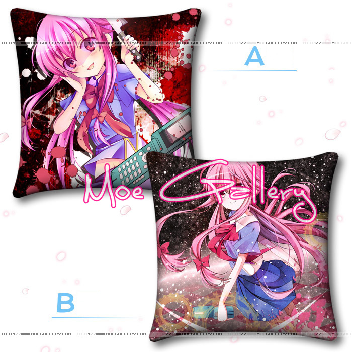 Future Diary Gasai Yuno Throw Pillow 01