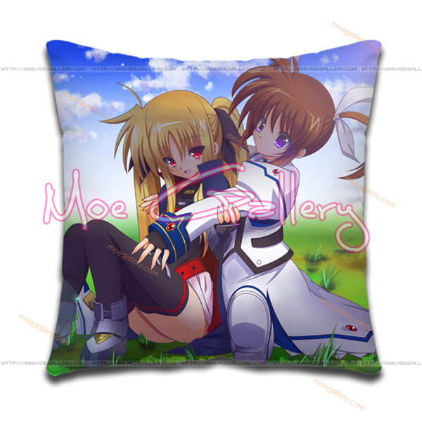 Magical Girl Lyrical Nanoha Nanoha Takamachi Throw Pillow 01