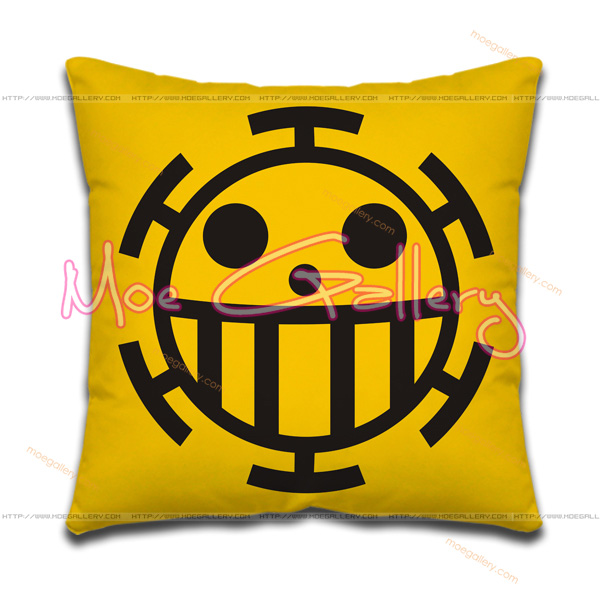 One Piece Heart Pirates Throw Pillow 01