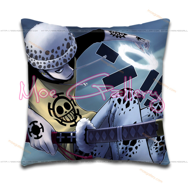 One Piece Heart Pirates Throw Pillow 02