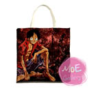 One Piece Monkey D Luffy Print Tote Bag 06