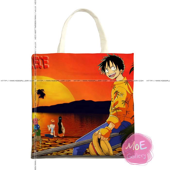 One Piece Monkey D Luffy Print Tote Bag 03