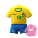 Soccer Brazil Football Shirt Sports Jersey 32G USB Flash Drive 01