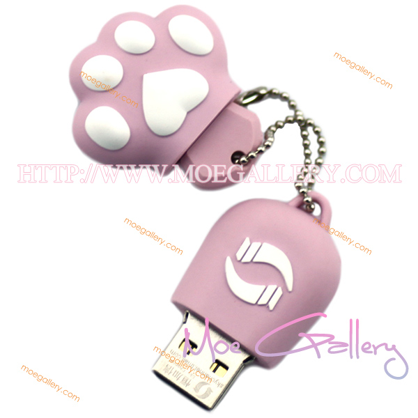 Lovely Cat Pink 4G USB Flash Drive 02