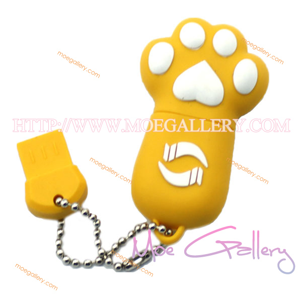Lovely Cat Yellow 4G USB Flash Drive 01