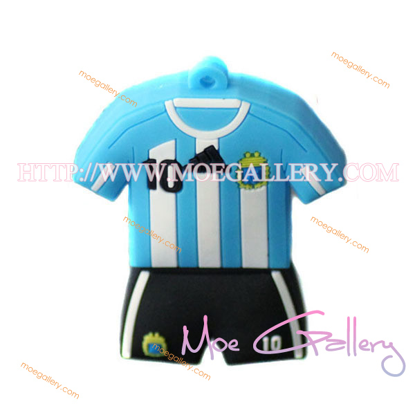 Soccer Argentina Football Shirt Sports Jersey 16G USB Flash Drive 01
