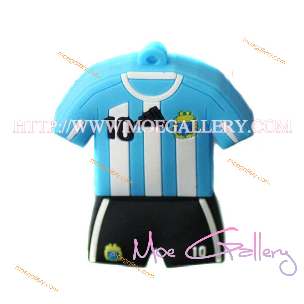 Soccer Argentina Football Shirt Sports Jersey 4G USB Flash Drive 01