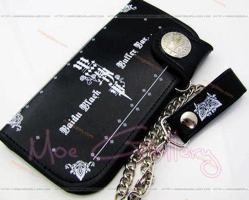 Black Butler Logo Black Long Wallet 01
