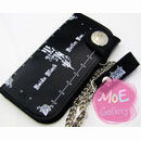 Black Butler Logo Black Long Wallet 01