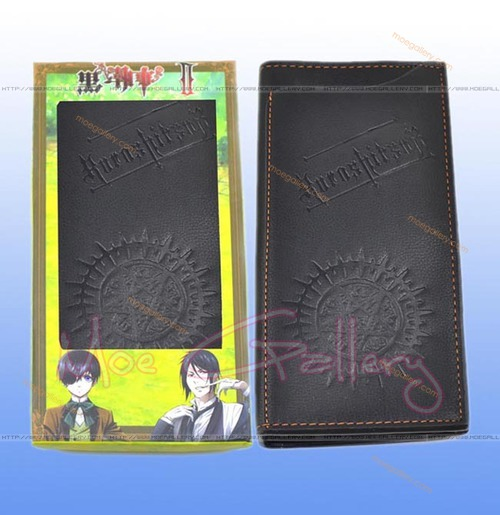 Black Butler Logo Black Long Wallet 02