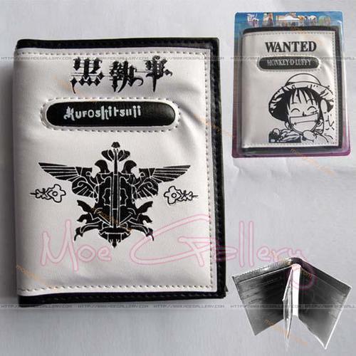 Black Butler Logo White Wallet 01