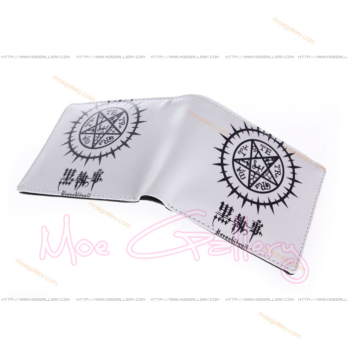 Black Butler Logo White Wallet 02