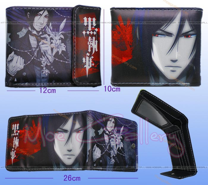 Black Butler Sebastian Michaelis Black Wallet 01
