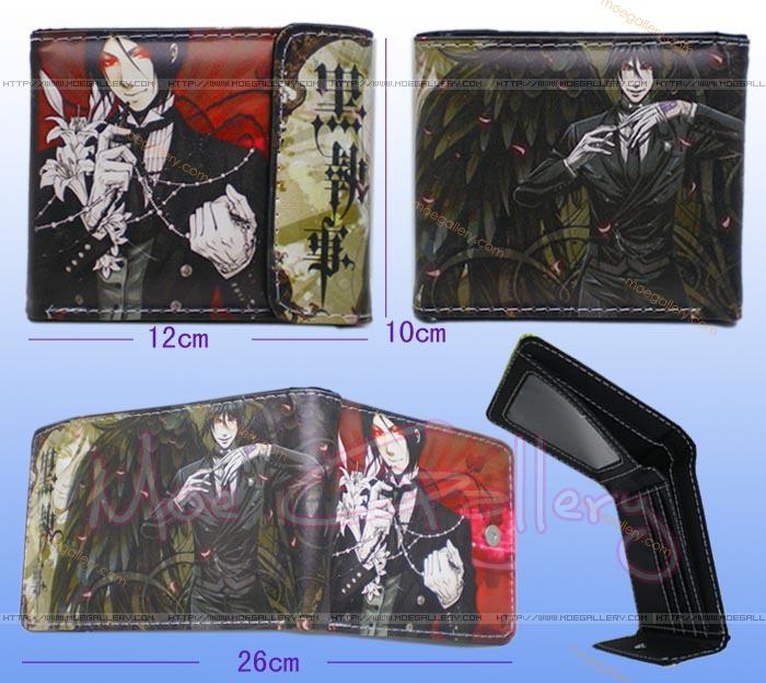 Black Butler Sebastian Michaelis Black Wallet 03