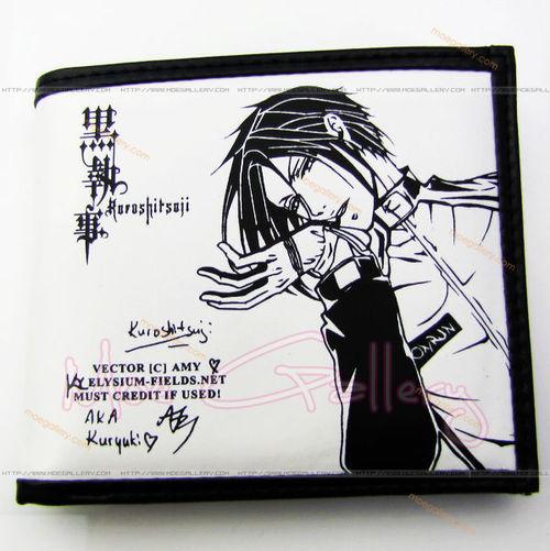Black Butler Sebastian Michaelis White Wallet 01